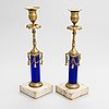 A pair of late 18th-century candlesticks in late gustavian style.