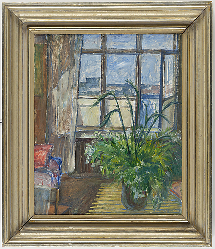 Eva cederström, oil on canvas, signed and dated 1938.