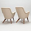 Carl gustaf hiort af ornäs,  a pair of 'pedro' armchairs for puunveisto oy - wood work ltd.