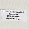 "Hans hammarskiöld, silvergelatinfotografi, ""barcelona"", signerad à tergo."
