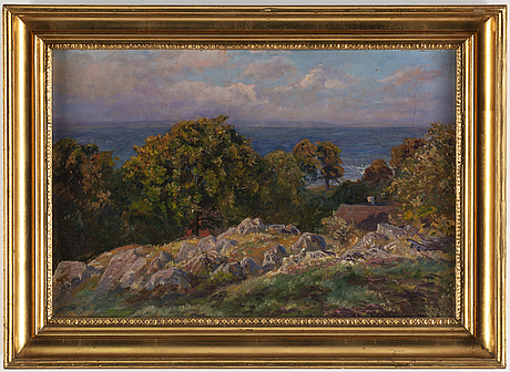 Viggo pedersen, oil on panel, signed and dated 1911.