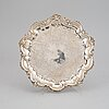 A sterling silver salver, maker's mark of barker brothers, birmingham 1900.