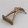 Stig blomberg, sculpture, bronze, signed.