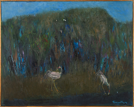 Tellervo töyry, oil on canvas, signed and dated -61.