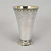 A swedish parcel gilt silver beaker, mark of  johan pettersson berg, norrköping 1763.