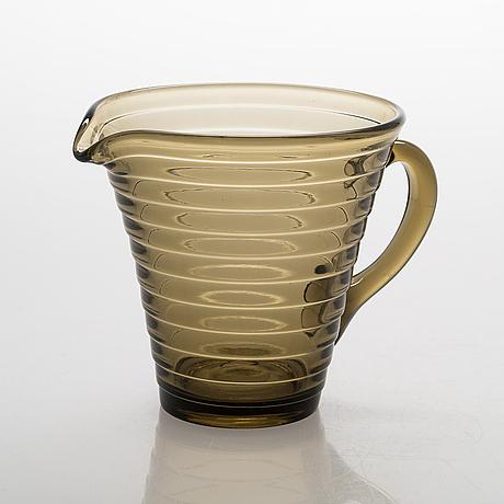 Aino aalto, a 25-piece glass table ware for karhula-iittala, latter half of the 20th century.