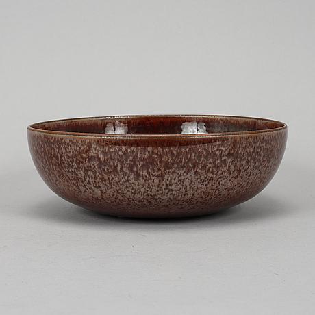 Carl-harry stålhane, a unique stoneware bowl, rörstrand, 1958.