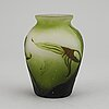 An emile gallé glass vase, signed gallé, early 20th century.