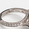 Louis vuitton, a platinum ring with diamonds ca. 2.33 ct in total. marked louis vuitton 52m 390234. 2018.
