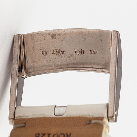 Louis vuitton, tambour slim tourbillon, rannekello, 38 mm.
