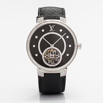 Louis Vuitton, Tambour Slim Tourbillon, wristwatch, 38 mm.