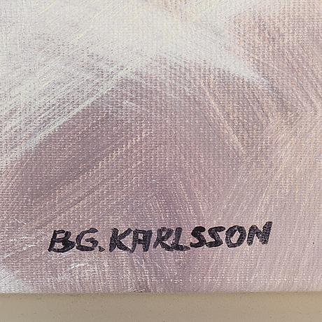 Bengt göran karlsson, oil on canvas, signed.