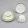 A gustafsberg art nouveau bone china dinner service, 'gunnar', gustavsberg, 1905-1909.
