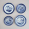 A set of 20 blue and white plates, qing dynasty, 19th century.