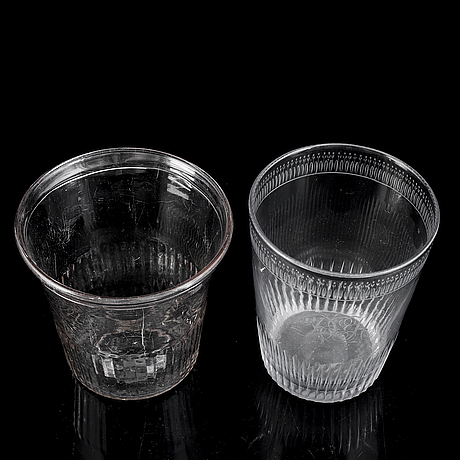 Two large goblets/vases, 19th century.