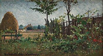 328. Alfred Wahlberg, Franskt landskap, Barbizon.