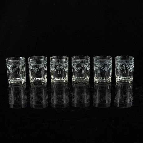 A set of 15 water glasses, 18/19th century.