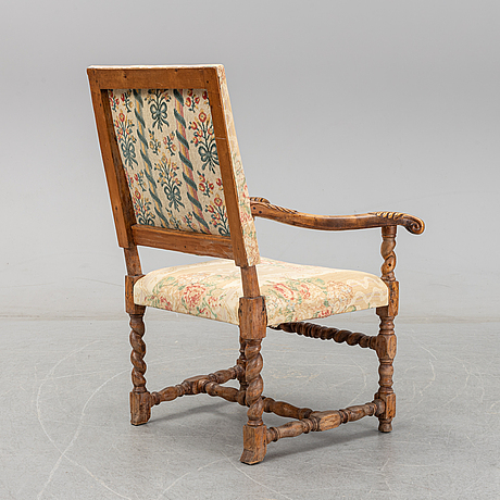 A first half of the 18th century  baroque armchair.
