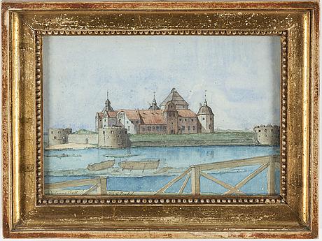 Frans gustaf abraham dahl, watercolour, signed.