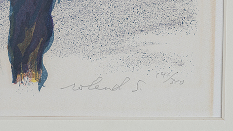 Roland svensson, lithograph in colours, signed 141/360.