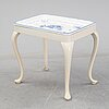 Tea table, a rococo style table, tray signed and dated a tergo rörstrand e.l. 1926.