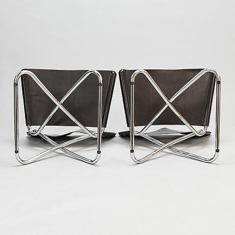 Erik magnussen, four 'z-down' chairs for engelbrechts, denmark.