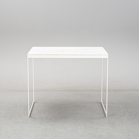 A marble bar table.
