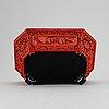 Ytterfoder, oktagonalt med skuren dekor. kina, troligen tidigt 1900-tal.