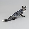 Theodor kärner, a porcelain figure of a fox, rosental, germany.