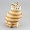 Lisa larson, a stoneware cat 'mia maxi', k-studion, gustavsberg.