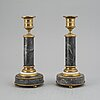 A pair of french ca 1800 candlesticks.