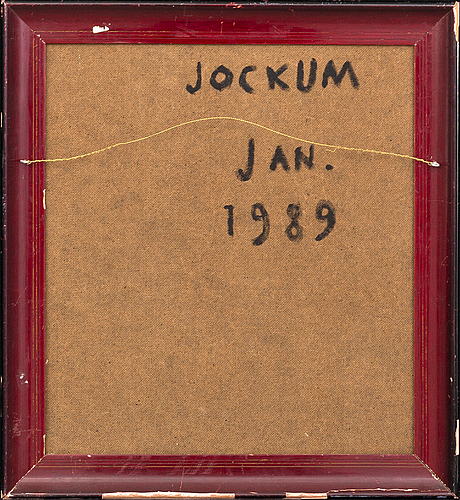 Jockum nordström, mixed media on panel, signed and dated on verso.