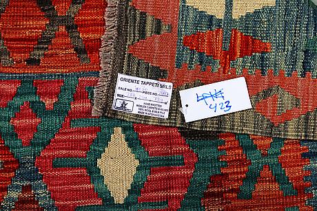 A carpet, kelim, ca 287 x 254 cm.