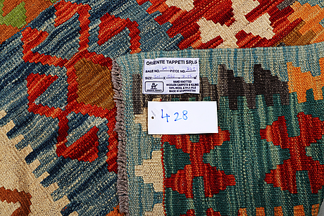 Matta, kelim, ca 301 x 246 cm.