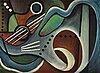 Eugéne de sala, cubist composition.