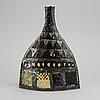 Carl-harry stålhane, a faience vase, rörstrand, sweden 1950's.