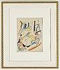 John jon-and, akvarell. signerad. utförd 1921 enligt uppgift.