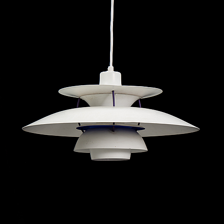 A 'ph 5' pendellum light by poul henningsen for louis poulsen, second half of the 20th century.