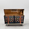A swedish painted chest, dated 1848.