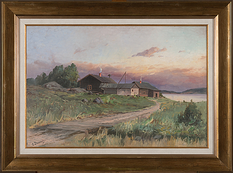 Eugen stanowsky, oil on canvas, signed.