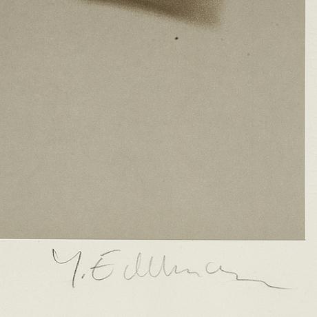 Yrjö edelmann, lithograph in colours, signed hc.
