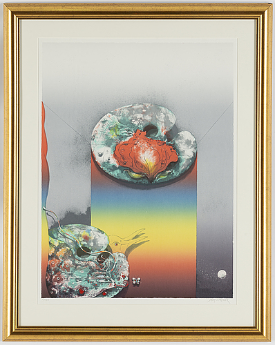 Ardy strüwer, lithograph in colours, signed 6/100.