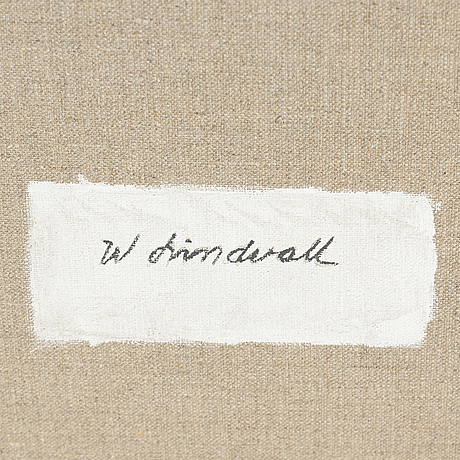 Wilhelm lindvall, oil on canvas, signed verso.
