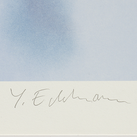 Yrjö edelmann, lithograph in colours, 2001, signed 254/375.