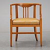 A beech chair, early 20th century.