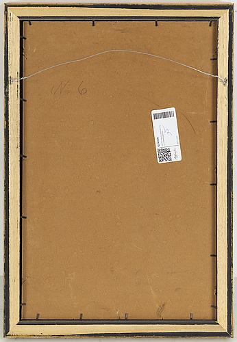 Georg pauli, oil on paper-panel, signed.