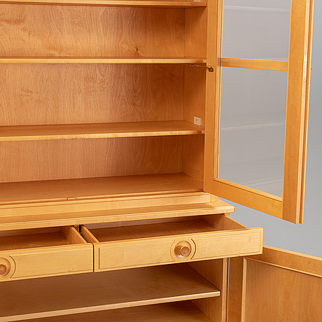 Carl malmsten, a 'herrgården' birch cabinet, åfors möbelfabriks ab.