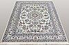 A carpet, nain, part silk, 198 x 149 cm.