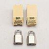 Louis vuitton, locks, 4 pcs.