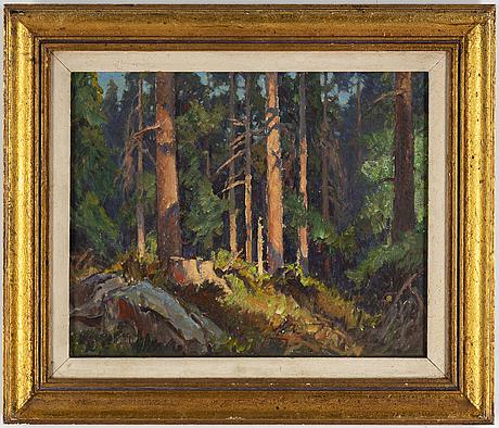 Carl oskar borg, oil on canvas, signed.